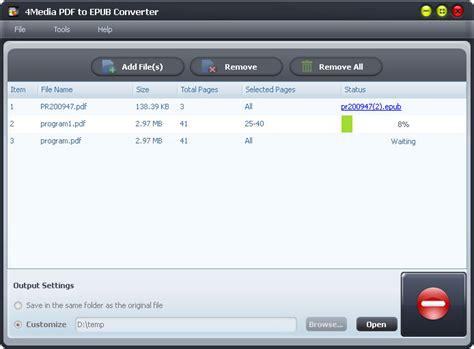 converter epub to pdf 4media pdf to epub converter 1 0 1 0910 скачать бесплатно