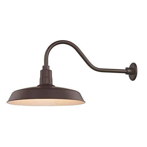 Gooseneck Outdoor Barn Light Bronze Outdoor Barn Wall Light With Gooseneck Arm And 18 Quot Shade Bl Armq Bz Bl Sh18 Bz