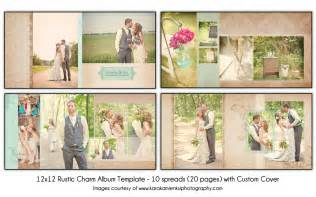 Wedding Album Templates by Rustic Charm 12x12 Wedding Album Template 10 Spread