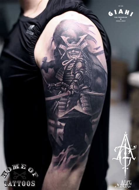 how to design your tattoo sleeve free samurai on right half sleeve