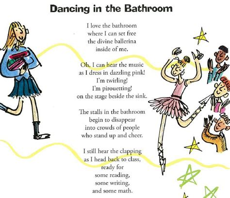 dancing in the bathroom poems for kids about school