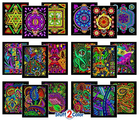 velvet posters to color pack of 18 fuzzy velvet 8x10 inch coloring posters
