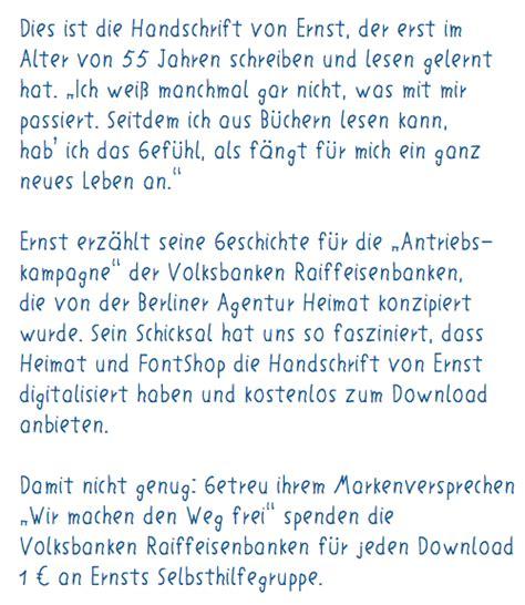 Kommentar Schreiben Muster Ein L 246 We F 252 R Ernsts Handschrift Update Fontblog