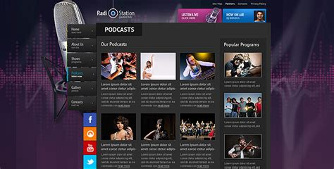 Radio Template Online Radio Station Website Template Gridgum Radio Station Marketing Plan Template