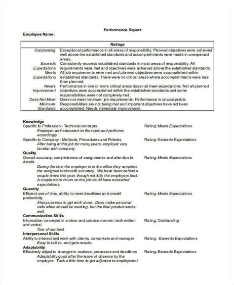 Hillsborough County Report Card Template by Employees Performance Report Gecce Tackletarts Co