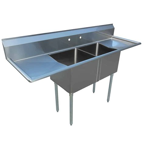 3 compartment sink with 2 drainboards sauber 2 compartment stainless steel sink with two 18
