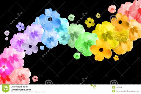 Wave And Flower rainbow flower abstract wave stock images image 9121114