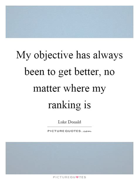 my objective has always been to get better no matter where my picture quotes