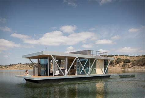 a company in portugal called friday have designed floatwing houseboat