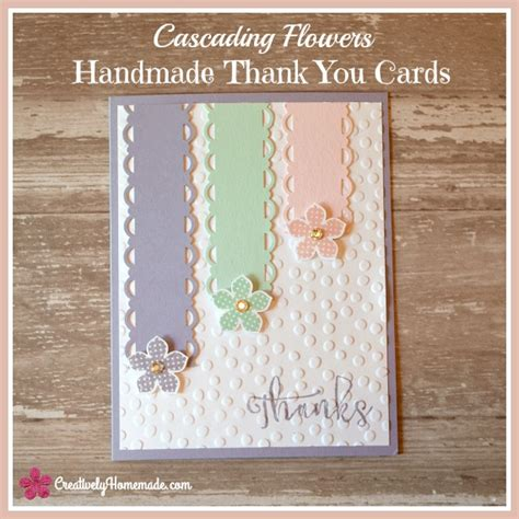 how to make a thank you card for your cascading flowers easy handmade thank you cards
