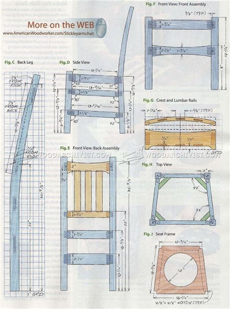 stickley chair plans woodarchivist