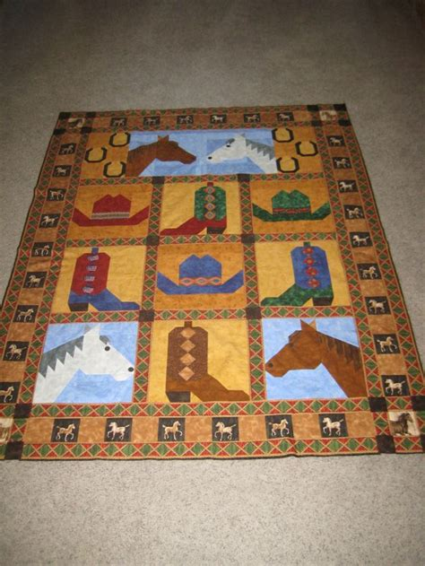 free printable cowboy quilt patterns sister s cowgirl quilt