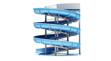 slide d water slide 3d library 3d models urban furniture