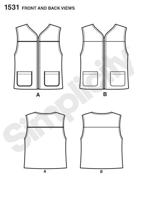 pattern review template simplicity 1531 it s so easy misses and men s vest