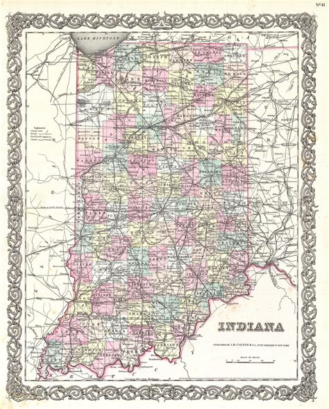 printable map indiana printable indiana map with cities