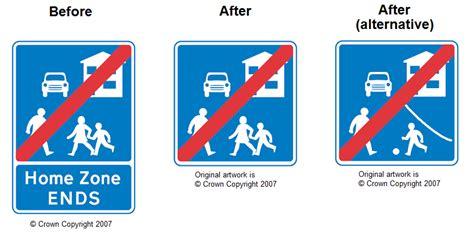 signage improvements pedestrian zones home zones and