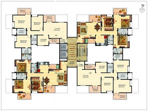 multi modern family house floor plan modern house plan
