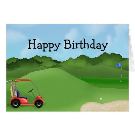 free printable golf greeting cards golf birthday card zazzle