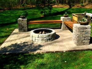 Fire Pit On Pavers - outdoor fire pit charlotte pavers and stone