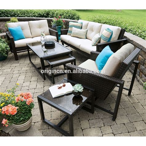 Unique Patio Furniture Unique Patio Furniture With Nesting Accent Pull Out Tables And 3 Person Low Price Sofa Set Buy