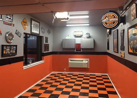 harley davidson orange paint lowes dirt bike themed party kitchen racedeck harley davidson perfect surfaces