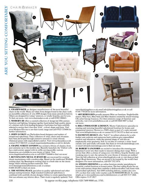 upholstery magazine the world of interiors hill upholstery design