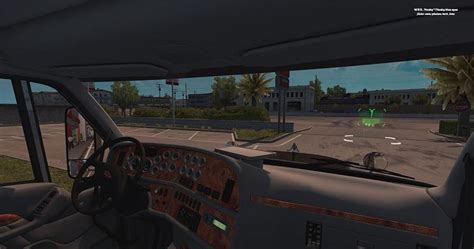 peterbilt 387 interior v1 0 187 american truck simulator