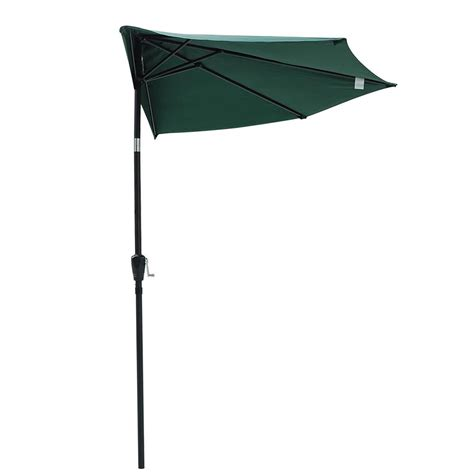 Patio Sun Umbrellas 9ft Half Umbrella Outdoor Patio Bistro Wall Balcony Window Sun Shade Color Opt Ebay