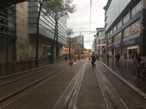 place north west exchange square tram stop  open