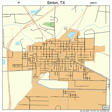 sinton texas map sinton texas map 4868036