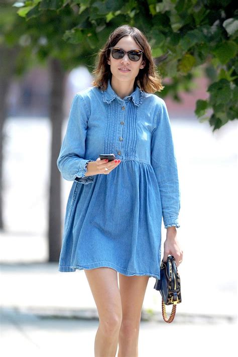 Dress Denim Onde vestido de blue jean cut paste de moda