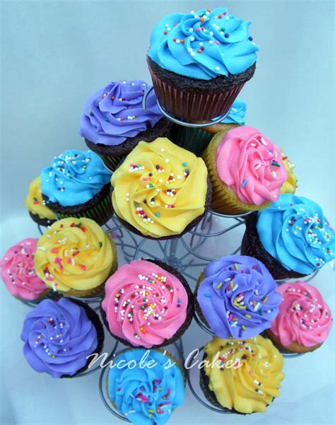 colorful cupcakes confections cakes creations colorful cupcakes