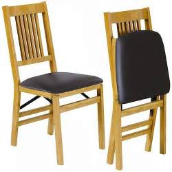 Padded Folding Dining Room Chairs Wood Folding Chairs Set Of 2 Padded Upholstered Dining Room Kitchen Mission Styl Ebay