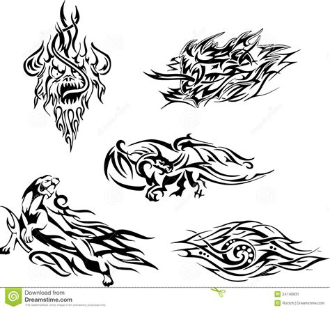flame tatoos stock vector image of cougar flame