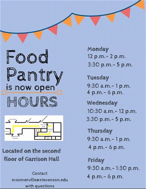 Pantry Hours by Food Pantry Serves As New Resource Stevenson Villager