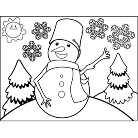 bucket hat coloring page snowman with bucket hat coloring page