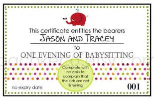 Babysitting Gift Voucher Template by Babysitting Voucher Template