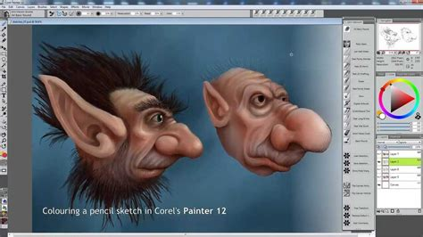 Colouring A Pencil Sketch With Corel Painter 12
