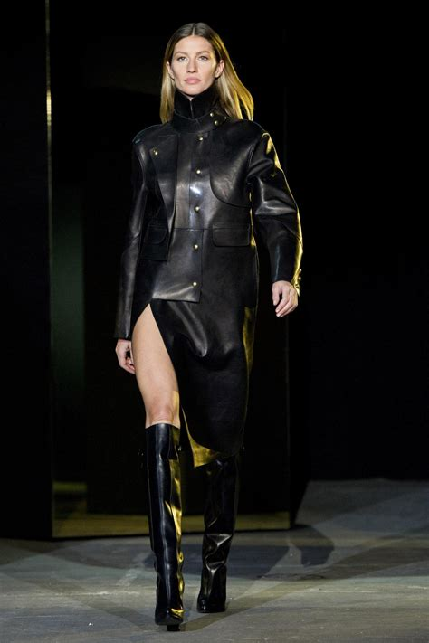 by alexander wang womens leather top style styles nyfw runway report fishnet leather and gisele at