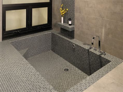 tile bathtubs small tubs and showers sunken bathtub with shower walk in