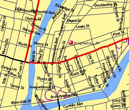 binghamton map binghamton ny map