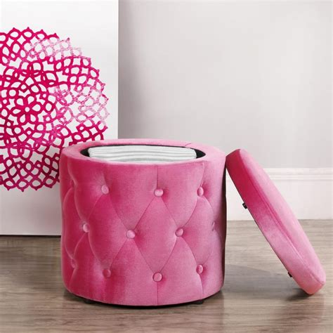 Pink Storage Ottoman Decorating Tufted Ottoman With Buttons And Pink Storage Tufted Storage Ottoman