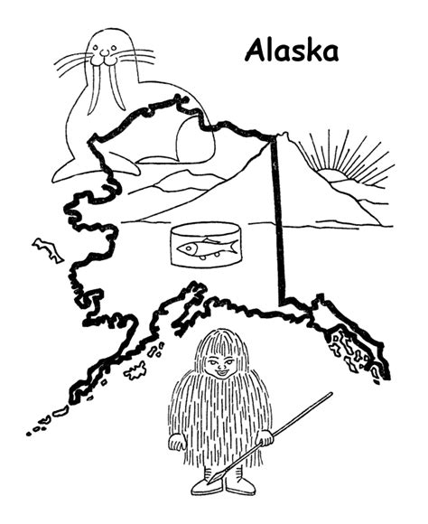 coloring page map of alaska state map coloring pages coloring home