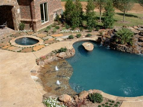 Backyard Pools With Entry Entry Freeform Pool With Slide Table And