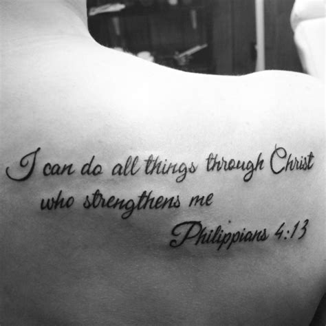 tattoo fonts bible verse philippians 4 13 tattoo placement but different font