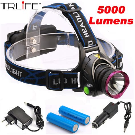 High Power Headl Cree Xm L T6 5000 Lumensboruit 5000 lumens led headl cree xm l t6 led headlight fishing light l light 2 18650
