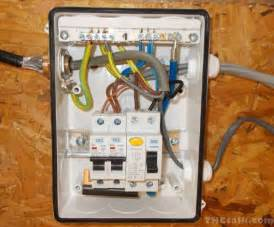 converting shed for growing and wiring from consumer unit