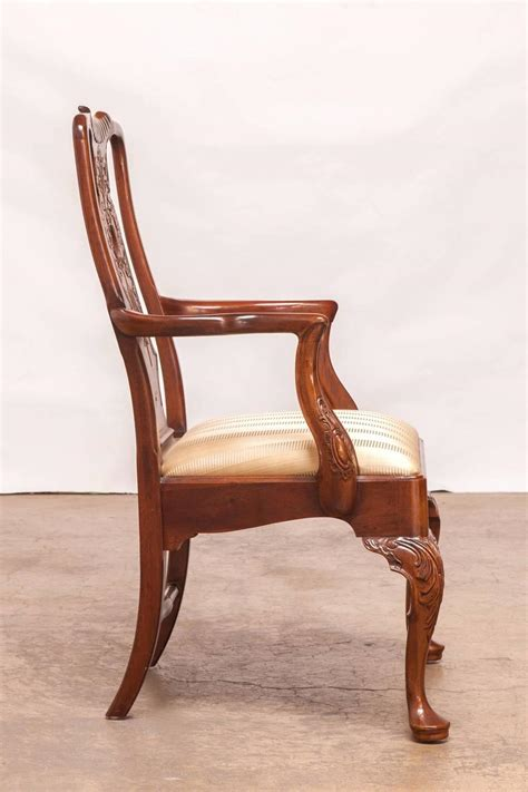 henredon dining room chairs set of 12 carved mahogany georgian style dining chairs by
