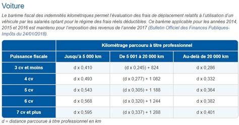 calcul frais kilometrique impot 5425 voyager pour travailler les frais professionnels de