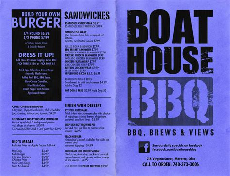 the boat house menu spagna s marietta oh menu